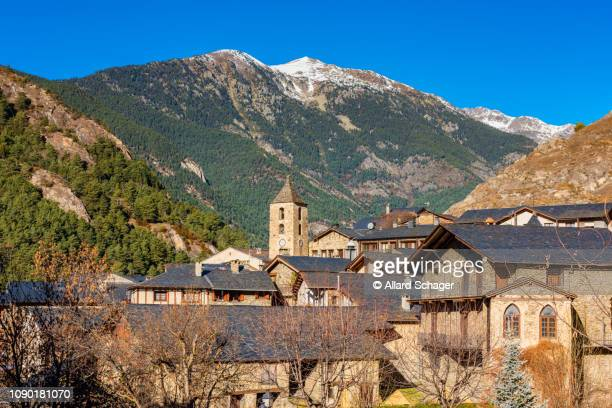 village of ordino in andorra - andorra stock pictures, royalty-free photos & images