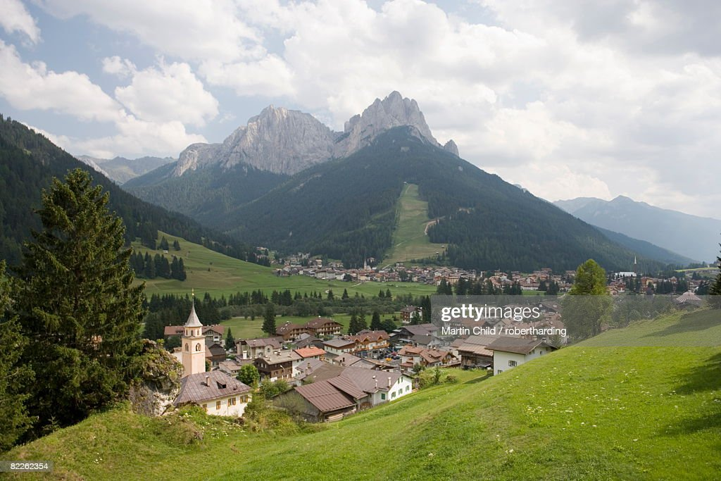 Village of Pera in the Dolomites, Italy, Europe : Stock Photo