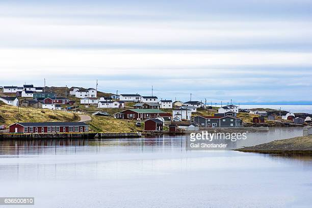 village of red bay - atlantic ocean stock pictures, royalty-free photos & images