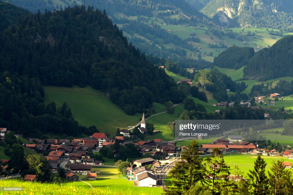 village of reidenbach nestled in the mountains of the bernese