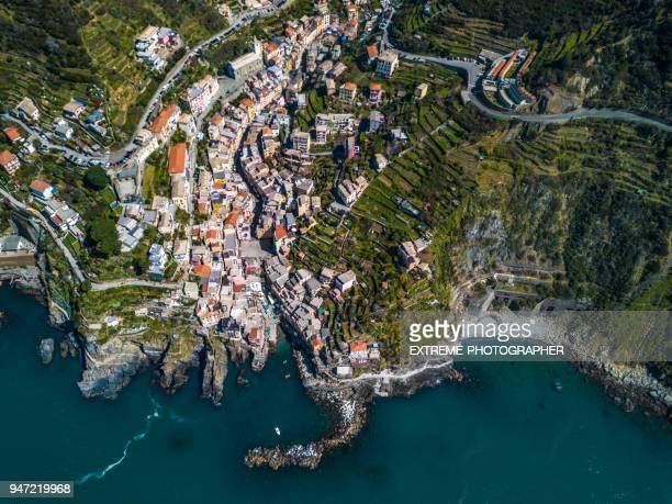 village of riomaggiore, italy - liguria foto e immagini stock