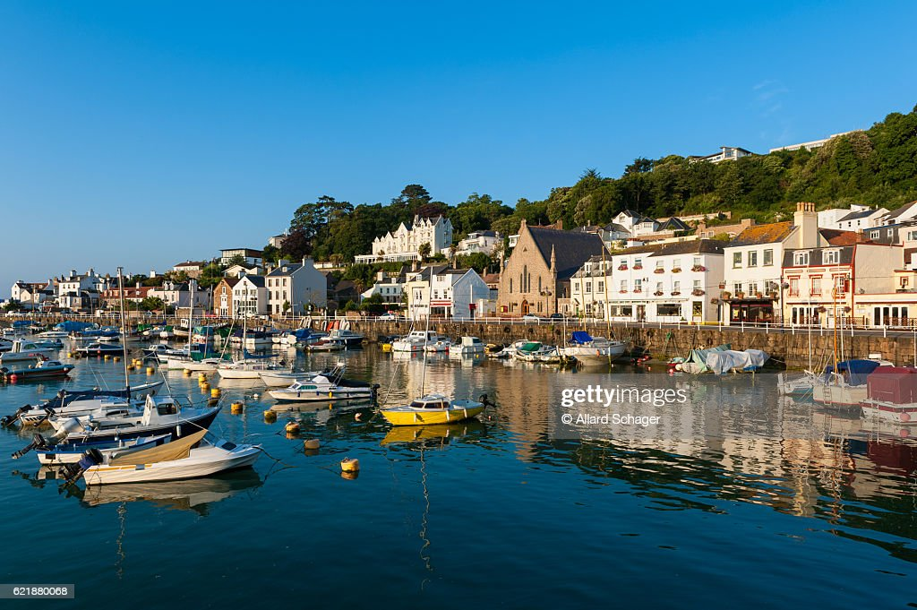 Village of Saint Aubin Jersey : Stock Photo