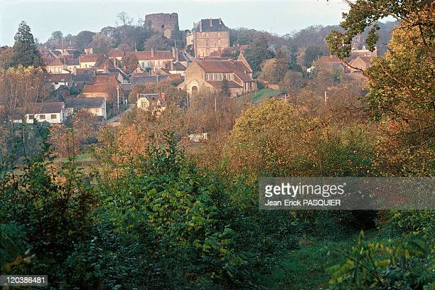 Village of SaintSauveur in Burgundy France seen from Des Roches trail where Colette used to walk