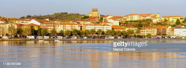 village of san vicente de la barquera at sunrise - martial stock pictures, royalty-free photos & images