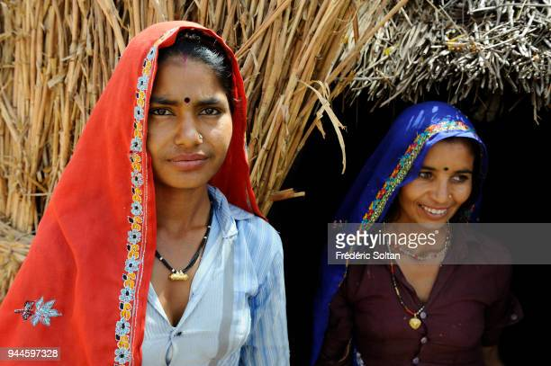 Village of shepherds and farmers near Bundi in Rajasthan on March 01 2017 in India
