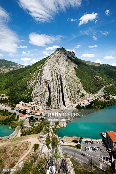 village of sisteron in provence france - alpes de haute provence stock photos and pictures