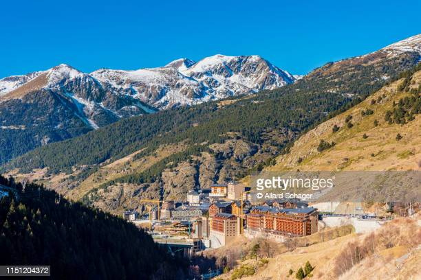 village of soldeu in andorra - andorra stock pictures, royalty-free photos & images