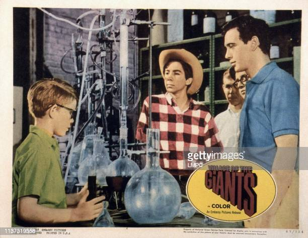 Village Of The Giants US lobbycard from left Ron Howard Johnny Crawford Tommy Kirk 1965