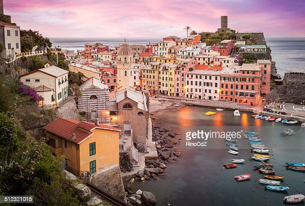 Village Of Vernazza At Dawn