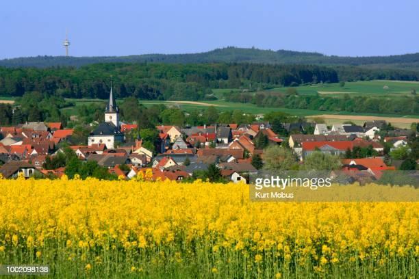 Village of Wehrheim, Taunus region, Hesse, Germany