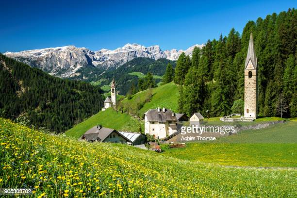 Village of Wengen, South Tyrol, Italy, Europe