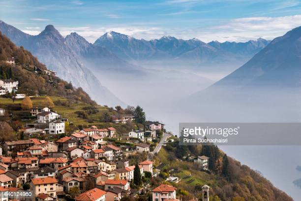 Village on Monte Bre in Lugano, Switzerland