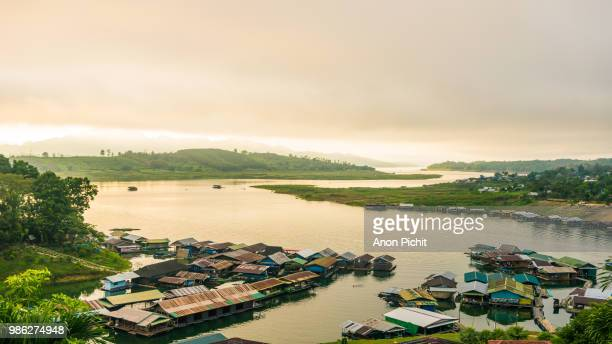 Village on river in topical country