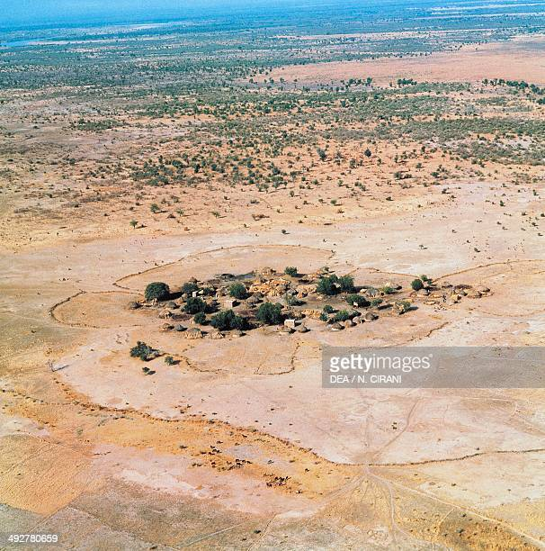 Village on the marshy shores of Lake Chad