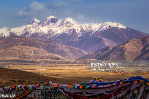 Village on the mountain a famous landmark in Ganzi
