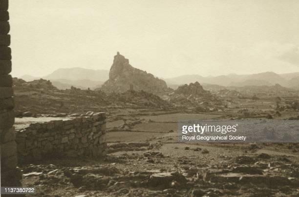 Village panorama number one tor alTaif Hijaz Saudi Arabia Artist George Rendel