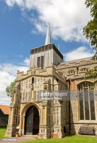 Village parish church of Saint Mary Magdalene Bildeston Suffolk England UK