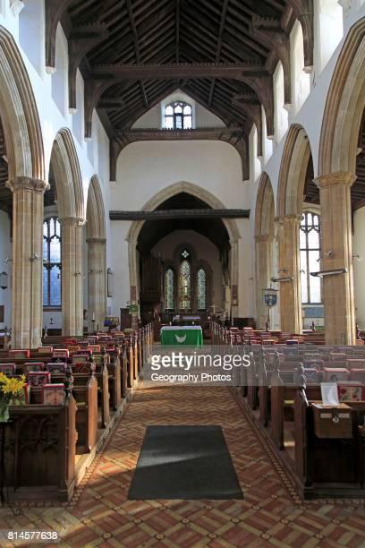 Village parish church of Saint Mary Magdalene Debenham Suffolk England UK