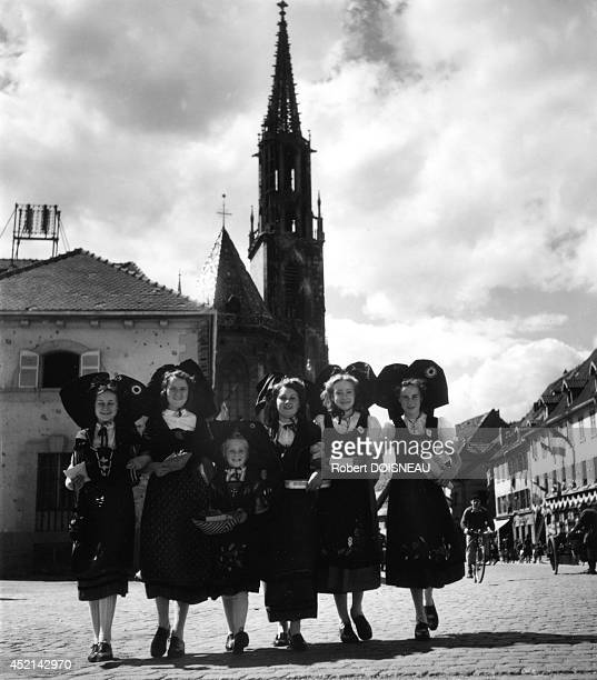 Village party in Alsace Thann France