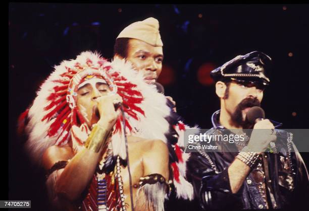 Village People 1980 Felipe Rose Alex Briley Glenn Hughes Chris Walter during Village People File Photos in los Angeles