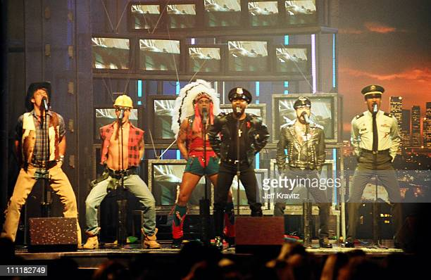 Village People during 1993 MTV Movie Awards at Sony Studios in Culver City California United States