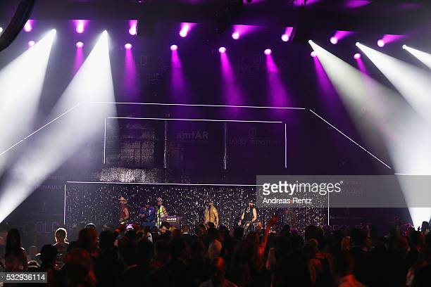 Village People perform onstage during the amfAR's 23rd Cinema Against AIDS Gala at Hotel du CapEdenRoc on May 19 2016 in Cap d'Antibes France