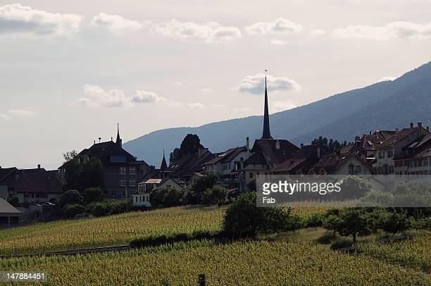 village - ヌーシャテル ストックフォトと画像
