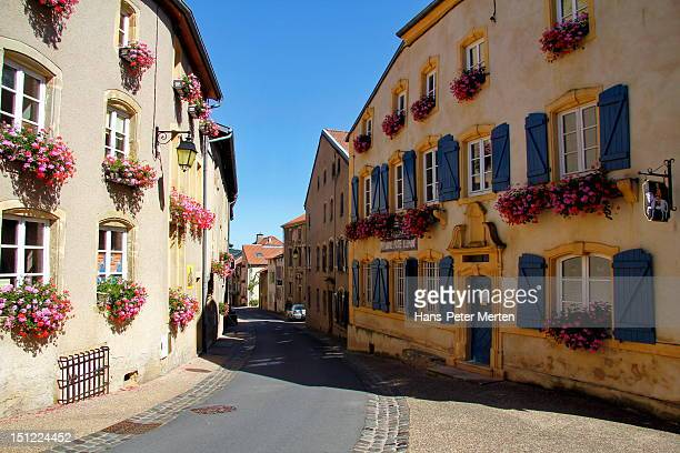 village rodemack, lorraine, france - lorraine stock pictures, royalty-free photos & images