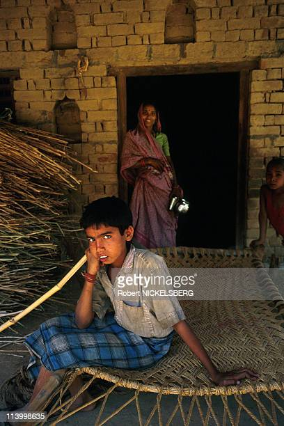 Village Scenes of Lower Casts in Uttar Pradesh In India In November, 1998.