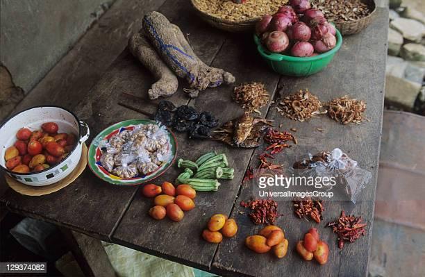Village Shop Nigeria Vegetables Grown On Deforested Land By Slash And Burn Agriculturalists