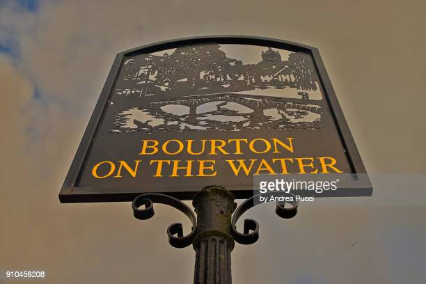 Village sign, Bourton-on-the-Water, Cotswolds, United Kingdom