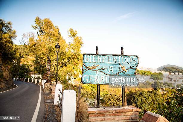 Village sign in Spain