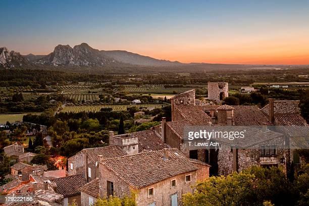 Village sunset, Provence, France