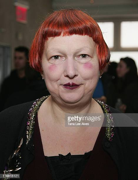Village Voice Writer Lynn Yaeger attends VPL by Victoria Bartlett Fall 2008 at Mercedes-Benz Fashion Week at Bumble and Bumble February 6, 2008 in...