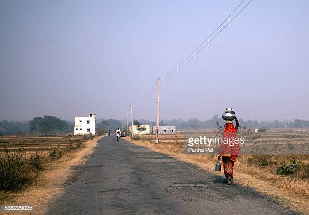 A village woman carrying food,Purulia,Bengal