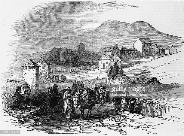 Villagers at Waterville, County Kerry, Ireland during the Great Famine, Ireland, 1846. Original publication: Illustrated London News - pub 10th...