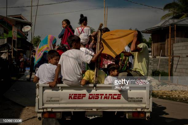 Villagers go on their daily lives as they enjoy a relative peace on August 23 2018 in Mamasapano Maguindanao southern Philippines Hundreds of...