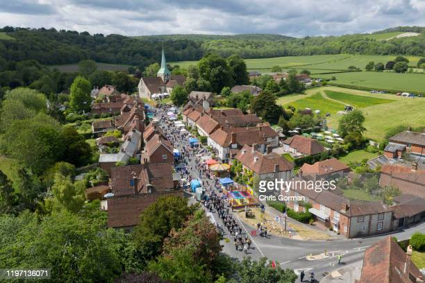 Villagers in the South Downs hamlet of South Harting in West Sussex gather for the Harting Festivities held on the bank holiday each year on May 27,...