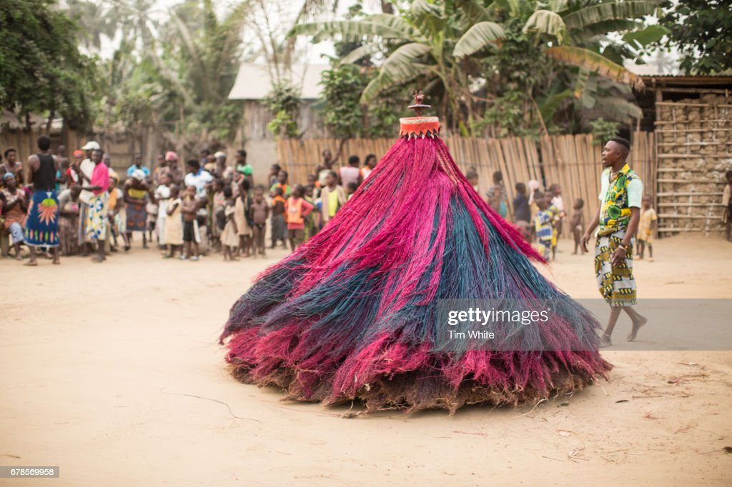 Villagers Perform Zangbeto Voodoo Ritual Grand Popo Benin