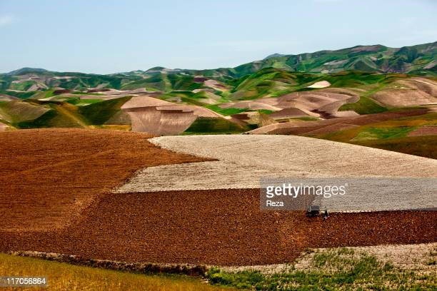 Villagers working in a field in Dashte Qal'eh area May 18 2009 in Takhar Province Afghanistan