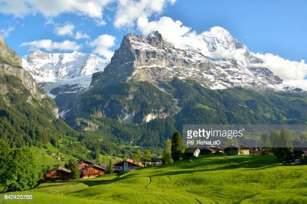 Villages in Grindelwald, Switzerland