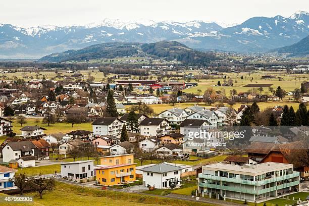 villages in rheintal - ファドゥーツ ストックフォトと画像