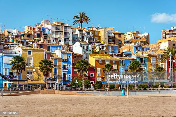 villajoyosa beach - valencia spain stock pictures, royalty-free photos & images