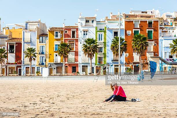 villajoyosa beach. spain - alicante stock pictures, royalty-free photos & images