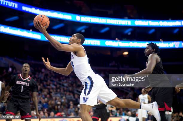 Villanova Forward Jermaine Samuels throws up an offbalance layup in the second half during the game between the Nicholls State Colonels and Villanova...