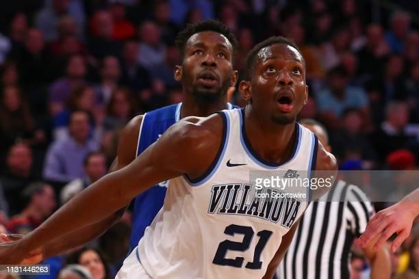 Villanova Wildcats forward Dhamir CosbyRoundtree during the Big East Conference Championship college basketball game between the Villanova Wildcats...