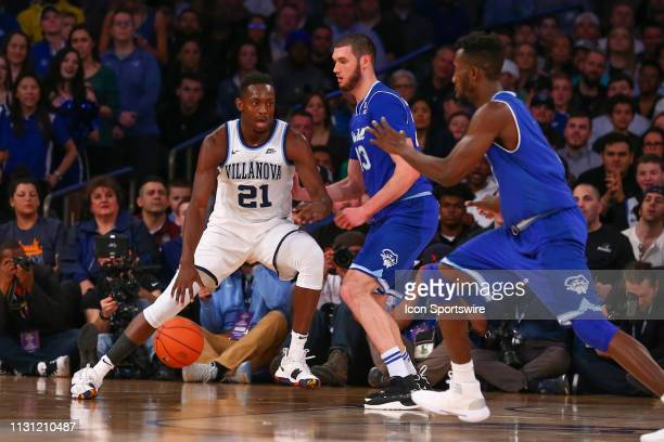 Villanova Wildcats forward Dhamir CosbyRoundtree during the first half of the Big East Conference Championship college basketball game between the...
