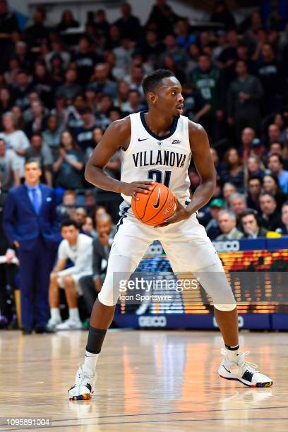 Villanova Wildcats forward Dhamir CosbyRoundtree looks to pass during the college basketball game between the Creighton Bluejays and the Villanova...
