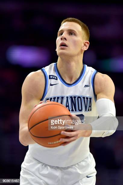 Villanova Wildcats guard Donte DiVincenzo at the free throw line during the basketball game between the Xavier Musketeers and the Villanova Wildcats...