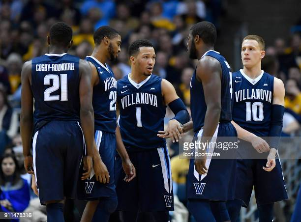 Villanova Wildcats guard Jalen Brunson is seen with Villanova Wildcats forward Dhamir CosbyRoundtree Villanova Wildcats guard Mikal Bridges Villanova...